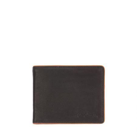 Мъжки портфейл черно с кафяво PIERRE CARDIN