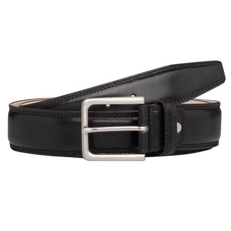 Мъжки колан черен - CHIARUGI - 110 см