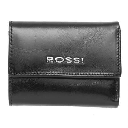 Дамско портмоне черно с гладка кожа - ROSSI