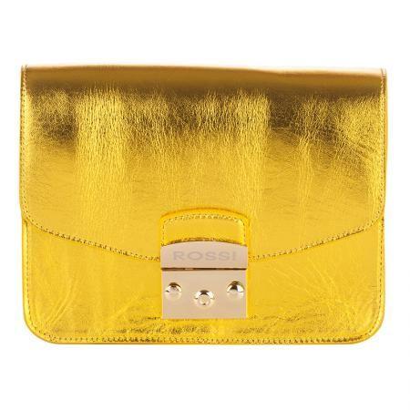 Дамска чанта цвят Златен - ROSSI