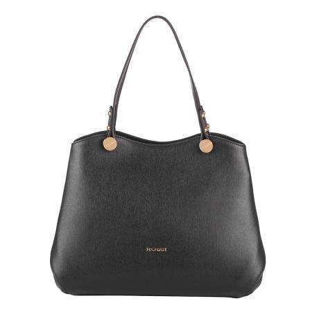 Дамска стилна чанта черна  - ROSSI
