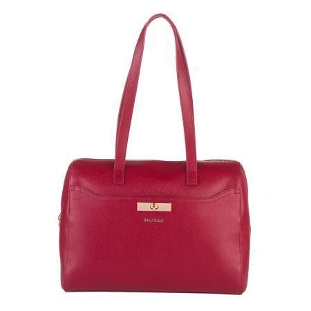 Дамска стилна чанта бордо - ROSSI