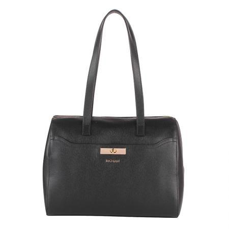 Дамска стилна чанта черно- ROSSI