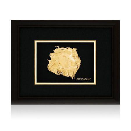 Златна картина лъв