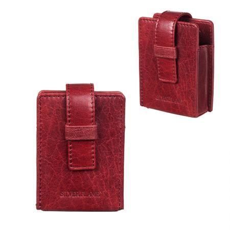 Калъф за цигари 80 мм червен SILVER FLAME