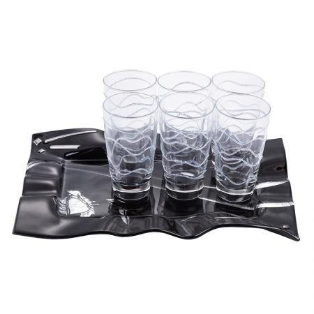 Silver Rose чаши за вода + поднос