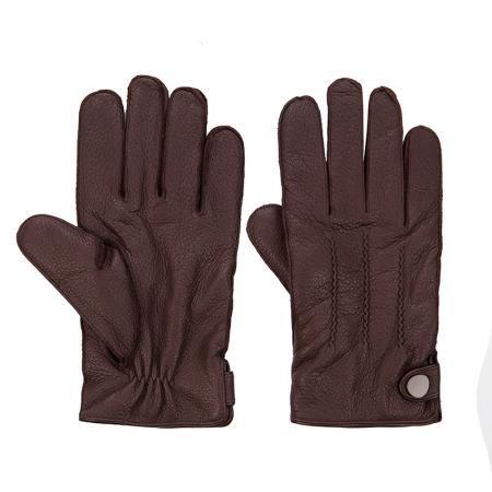Мъжки тъмно кафяви ръкавици Silver Flame