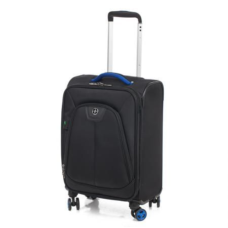 Черен куфар с колела - SWISSDIGITAL