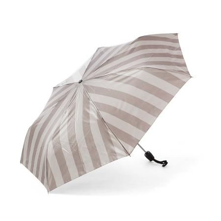 Дамски чадър сиво с бежово райе - Pierre Cardin