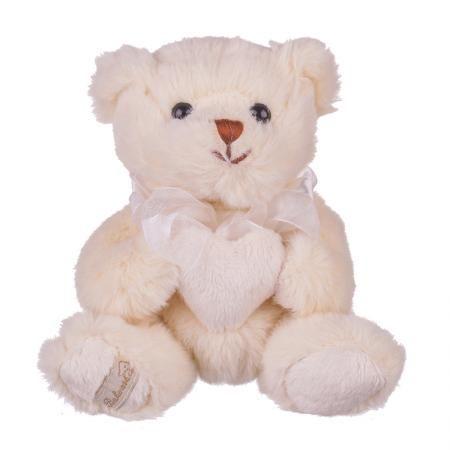 Плюшенa играчка меченце с бяло сърчице