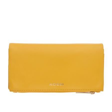 Дамско портмоне цвят Жълто - ROSSI