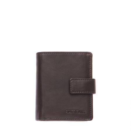 Мъжки портфейл тъмно кафяв SILVER FLAME - колекция Сафари