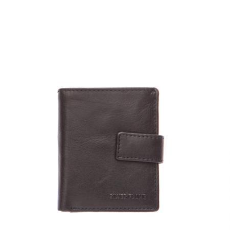 Мъжки черен портфейл  SILVER FLAME - колекция Бъфало
