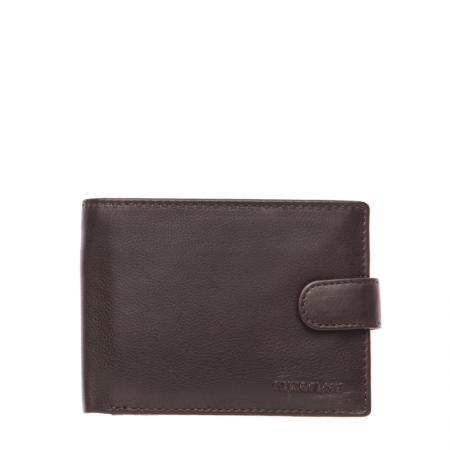 Мъжки тъмно кафяв портфейл  SILVER FLAME - колекция Сафари