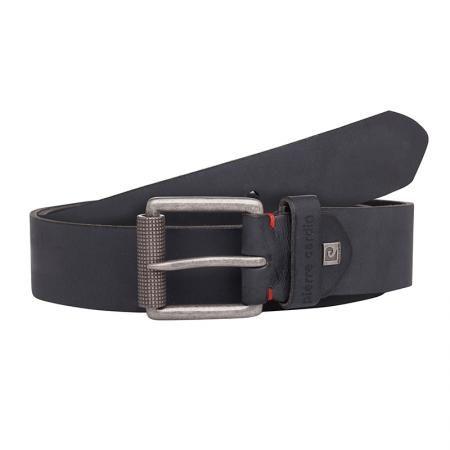 Мъжки черен колан 120 см - PIERRE CARDIN