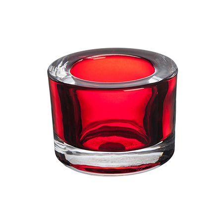 Свещник червен 8,2/6 см.