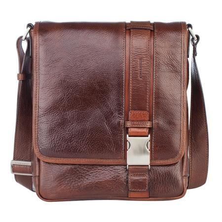 Mъжка кафява чанта за през рамо - CHIARUGI
