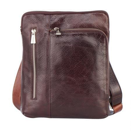 Елегантна мъжка кафява чанта  - CHIARUGI