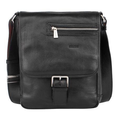 Стилна черна чанта през рамо - CHIARUGI