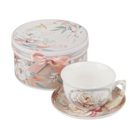Божур сет чаша + чинийка