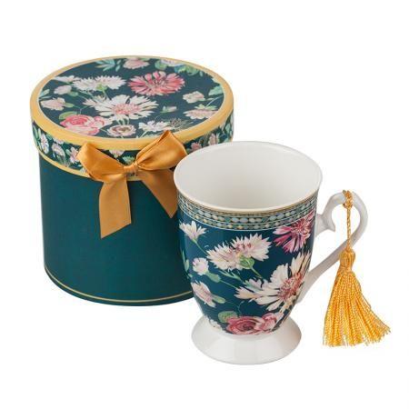 Чаша за чай +кутия Полски цветя