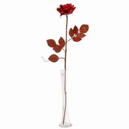 Роза стрък червена