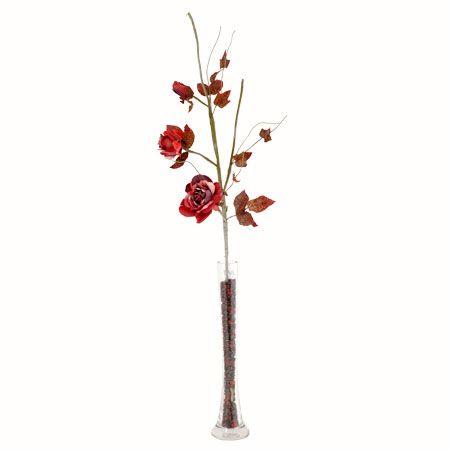 Роза три червена