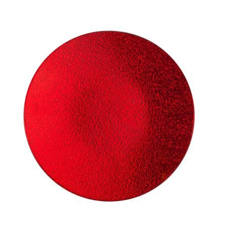Подложка за свещ червена 15см