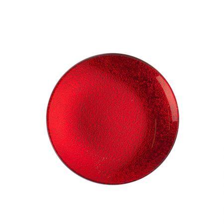Подложка за свещ червена 12см