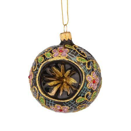 Стъклена топка с цветя