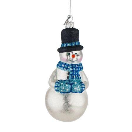 Стъклена играчка снежен човек