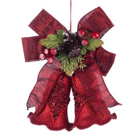 Коледни камбанки червени