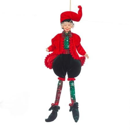Коледен елф червен