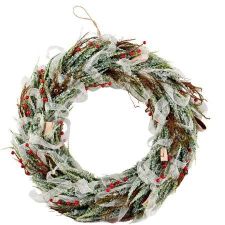 Коледен венец панделка