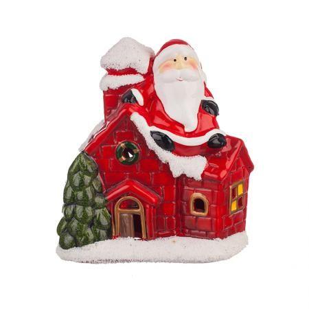 Коледна къща светеща