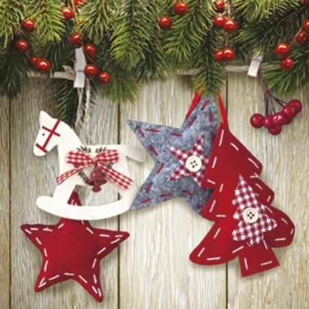 Коледни салфетки звездички
