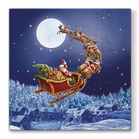 Коледни салфетки Дядо Коледа с шейна
