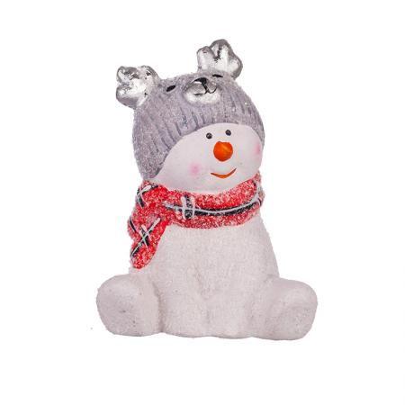 Снежно човече с шапка