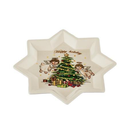 Коледна чиния звезда
