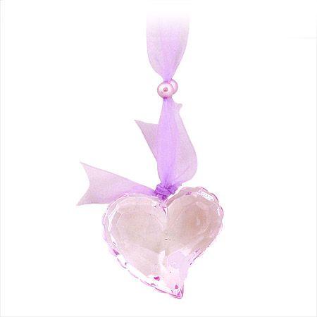 Висулка сърце панделка лила