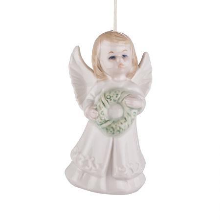 Ангелче с коледен венец