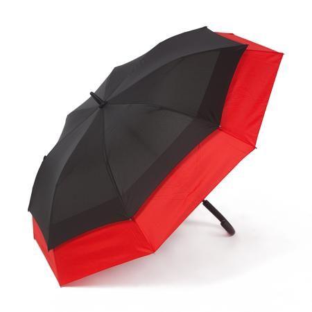 Чадър с червена периферия - PIERRE CARDIN