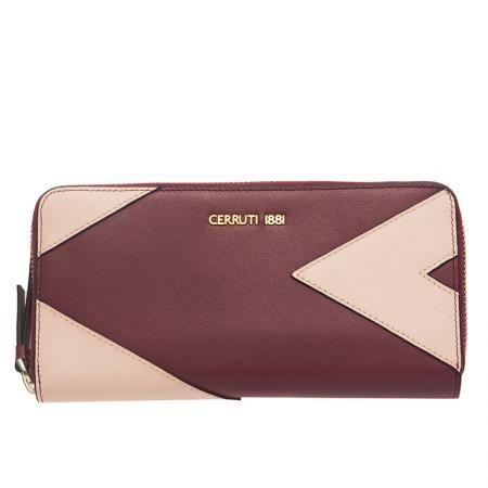 Дамско портмоне бордо и розово  - CERRUTI