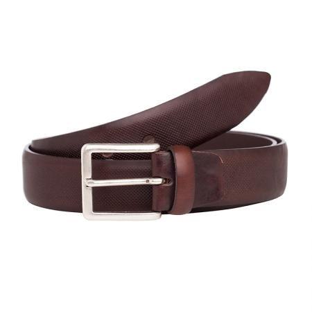 Mъжки стилен колан в кафяво - Italian belts - 105 см