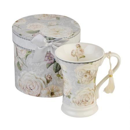 Бяла роза  MUG чай + кутия